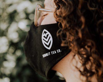 Summit Tea Co Black Cloth Face Mask