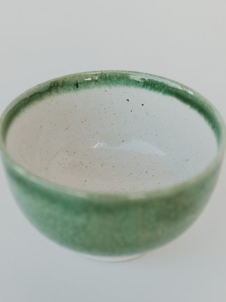 ceramic green matcha bowl