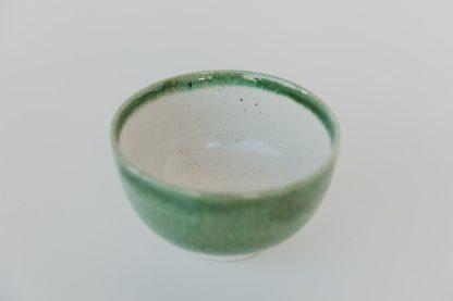 ceramic green matcha bowl